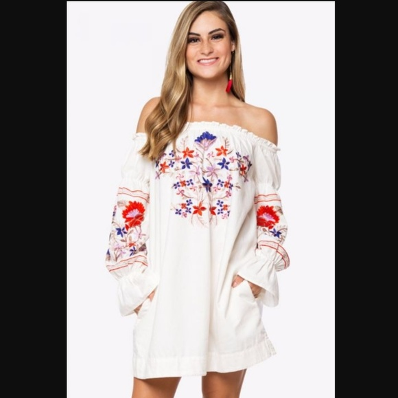 cc1555af6915 Free People Dresses   Fleur Du Jour Mini Dress Ivory Med Nwt   Poshmark